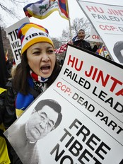 US-CHINA-POLITICS-TIBET-PROTEST (Foto: JEWEL SAMAD/Afp)