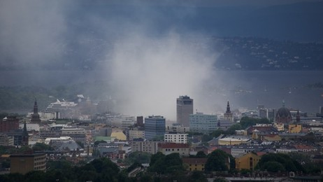 Bombe i oslo (Foto: NRK)