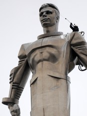 Statue av Gagarin (Foto: ANDREY SMIRNOV/Afp)