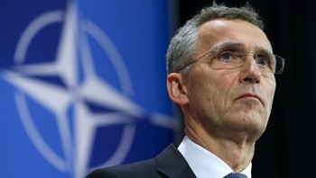 NATO-FOREIGN/ NATO Secretary-General Stoltenberg holds a news conference during a meeting of the NATO foreign affairs ministers at the Alliance headquarters in Brussels