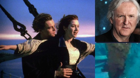 James Cameron var regissør for filmen Titanic.  (Foto: Scanpix/Reuters/Montasje)
