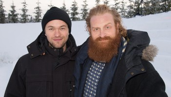 Jacob Oftebro og Kristofer Hivju