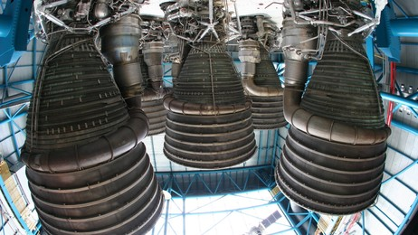 Saturn V-rakettene (Foto: NASA)