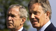 Bush og Blair (Foto: MANDEL NGAN/AFP)