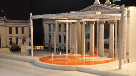 Model of medal ceremonies arena (Foto: Grindaker)