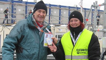 Project Manager Odd Kaldefoss with security in Liberec 2009
