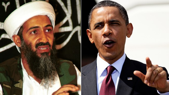 Osama bin Laden og Barack Obama (AP)
