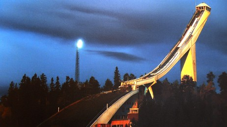 Old Holmenkollen just before demolition, autumn 2008 (Foto: Odd Kaldefoss/NRK)