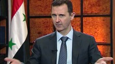 Syrias president Bashar Assad i tv-intervju (Foto: Anonymous/Ap)