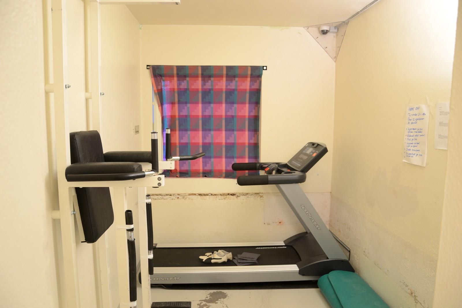 En av cellene massedrapsmannen disponerte på Ila var innredet som et treningsrom. Det var kun Breivik som disponerte dette rommet.