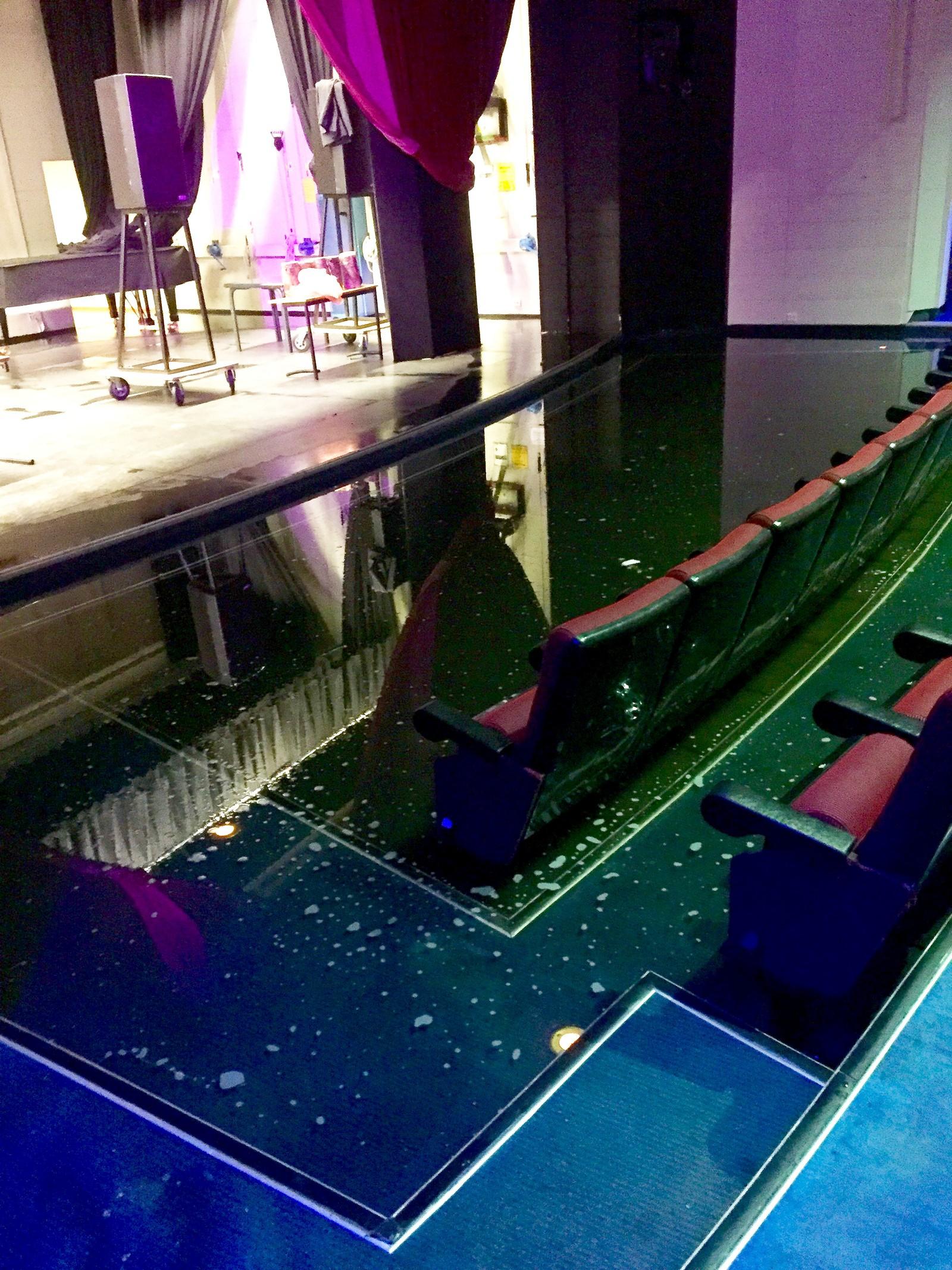 Oversvømmelse i kulturhuset i Kvinesdal.