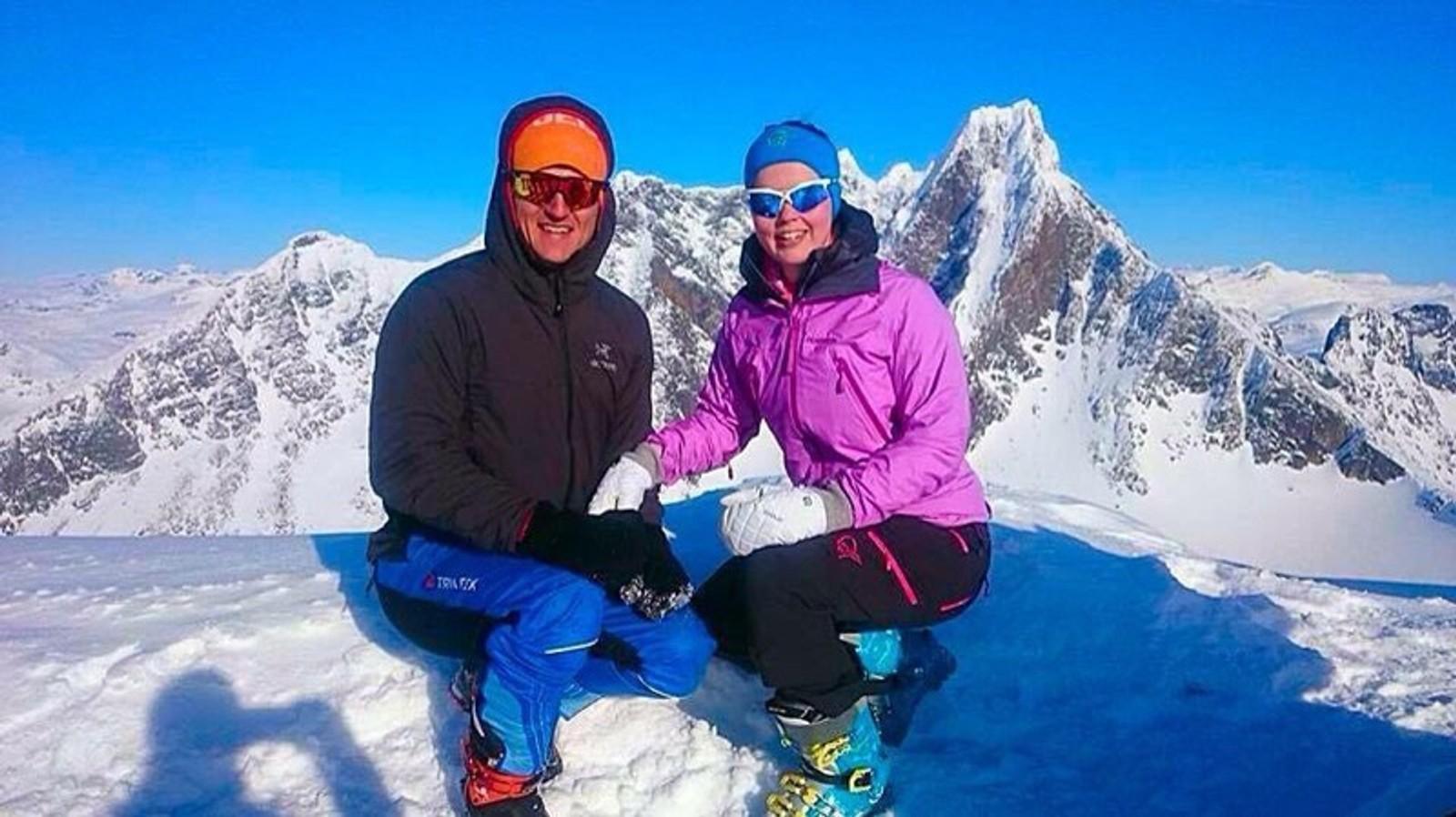 Heidi og Tomas på Dyrhaugsryggen.