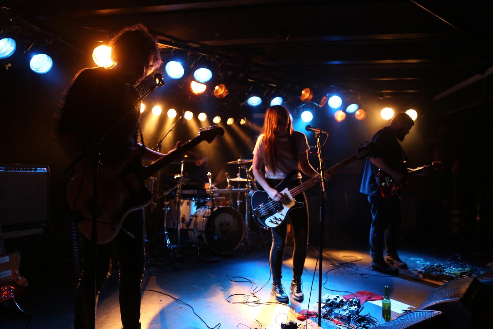 The Megaphonic Thrift vann Spellemannspris for årets indie i 2015. Dei hadde sin første releasekonsert på Garage for ni år sidan. F. v. Richard Myklebust, Fredrik Vogsborg, Linn Frøkedal og Njål Clementsen.