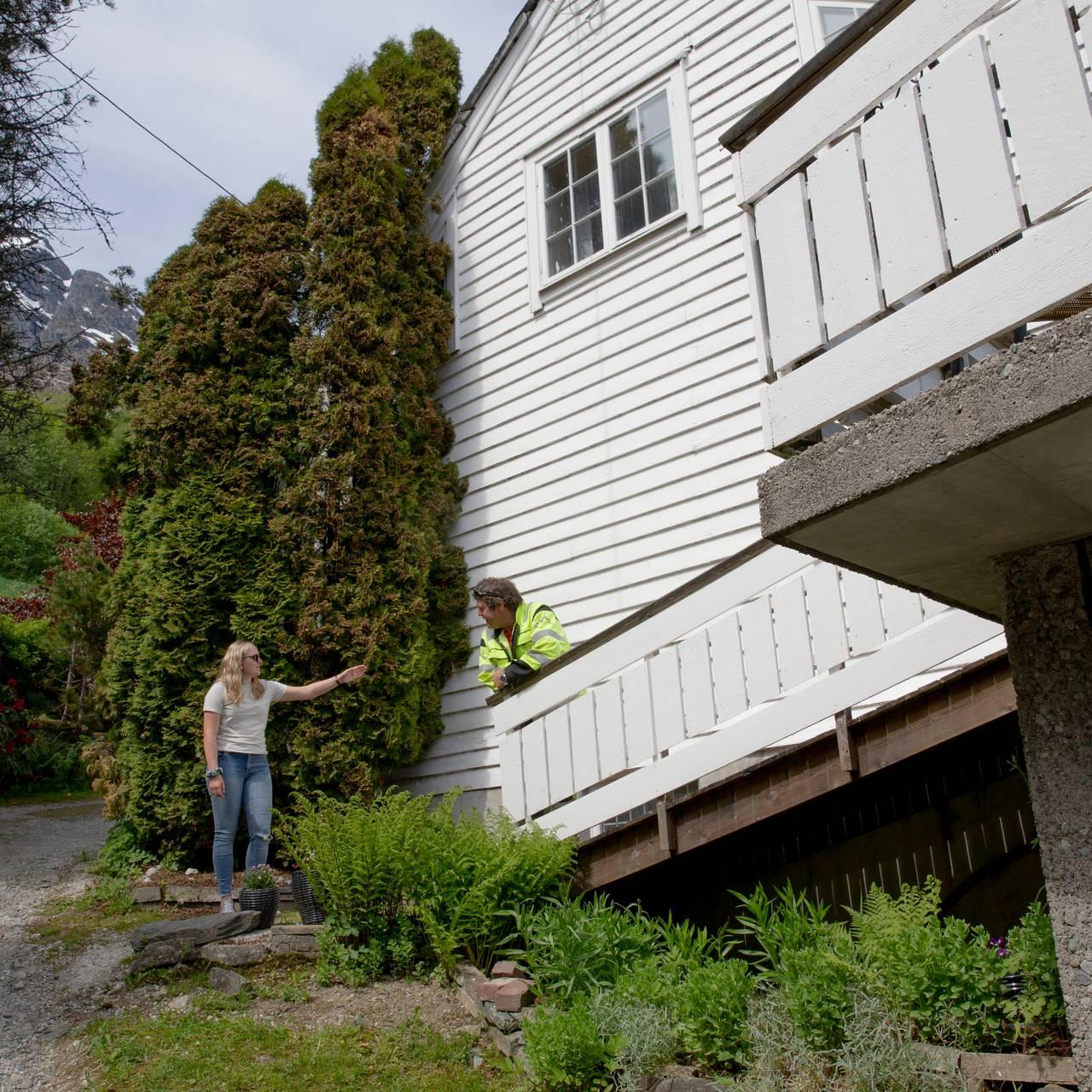 Viser huset på Kvestad.