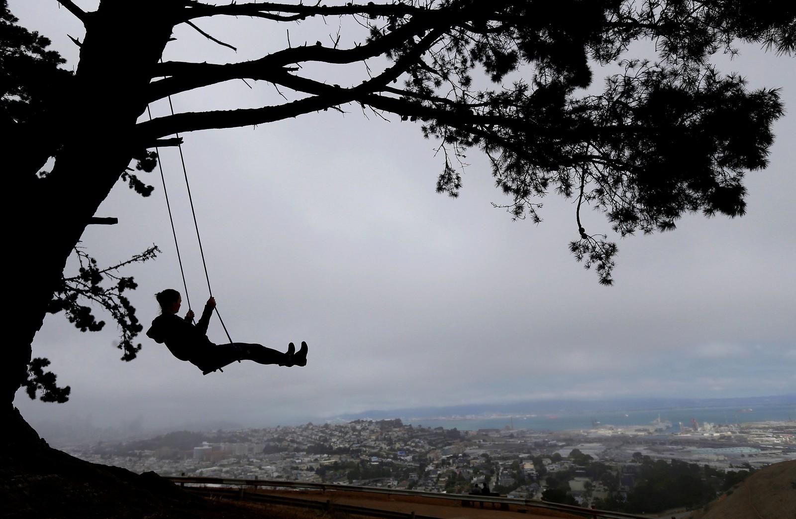 Det finnes sikkert verre ting å gjøre enn å svinge seg over San Fransisco.