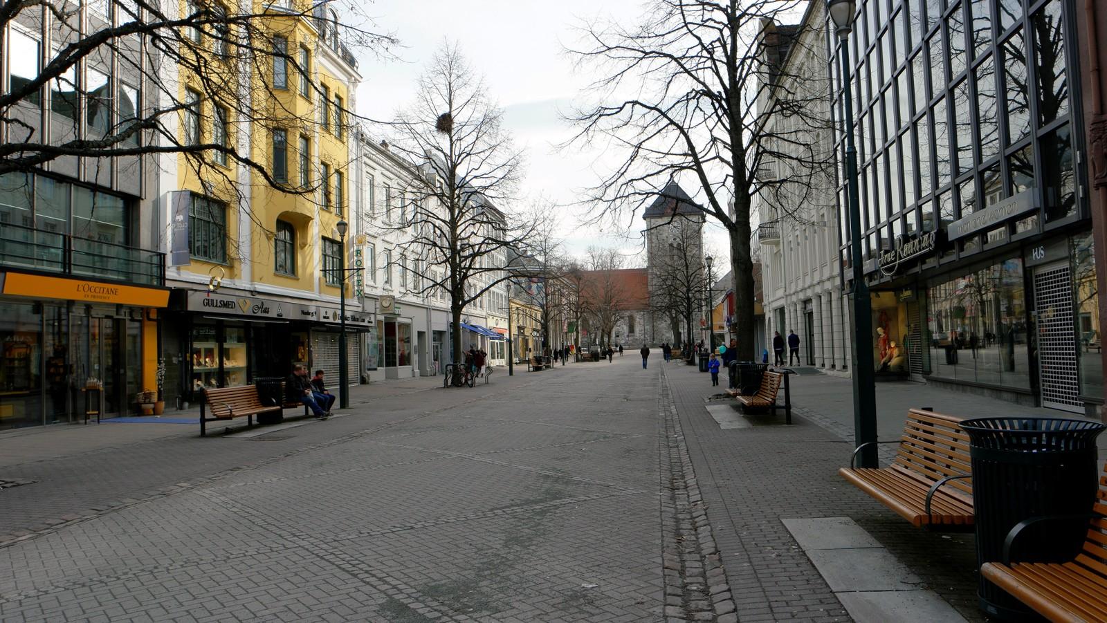 Påskestille i Nordre gate i Trondheim