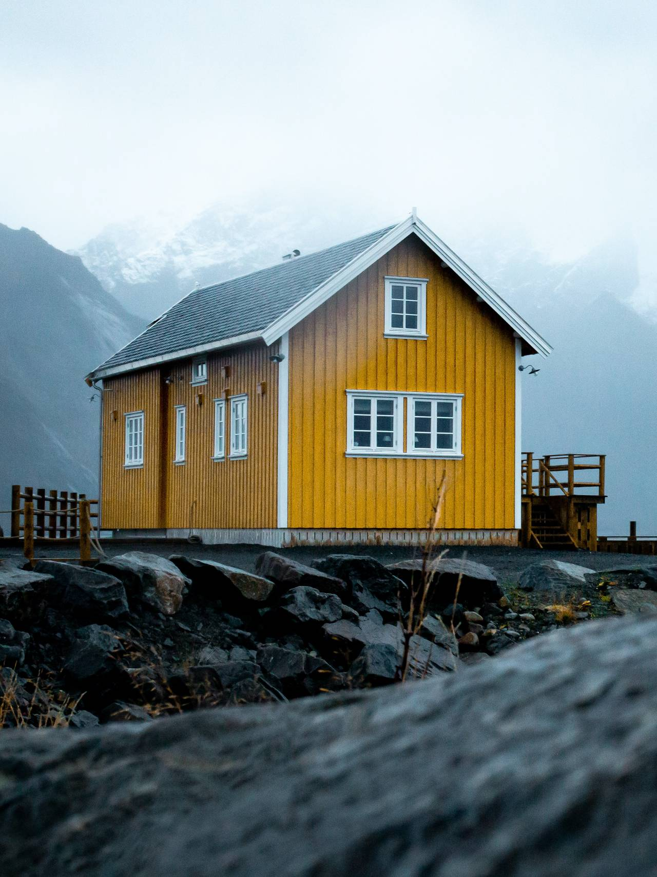 Hus i Lofoten.