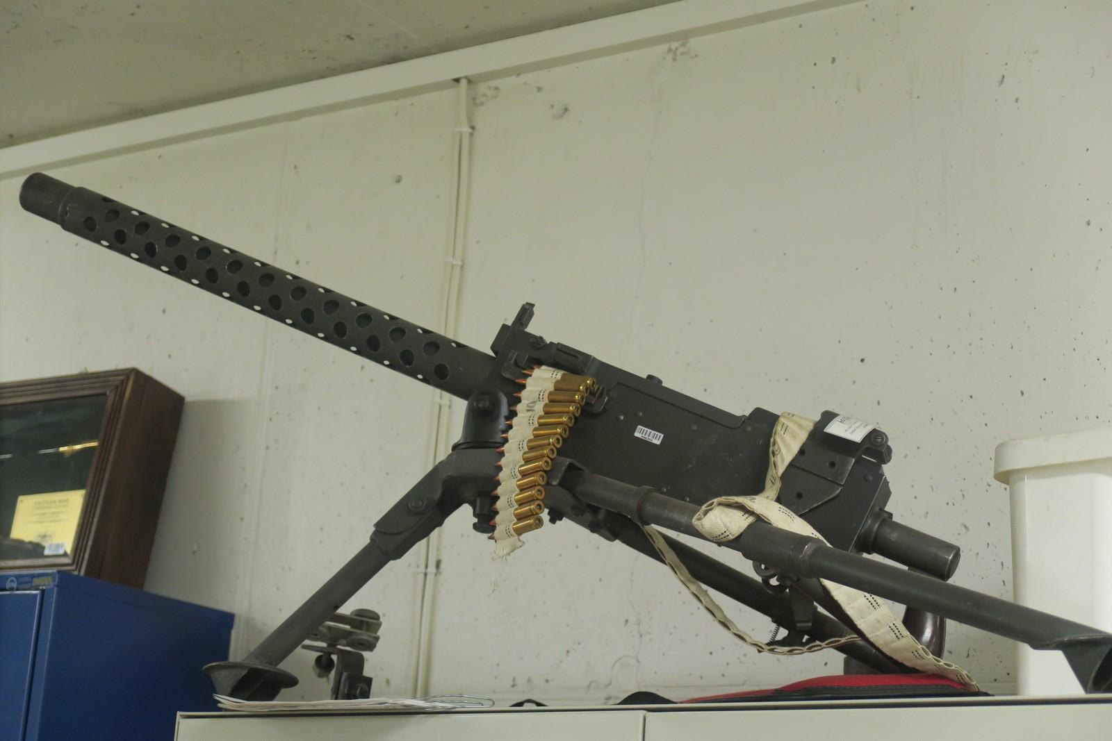 Tungt maskingevær: en Browning mitraljøse