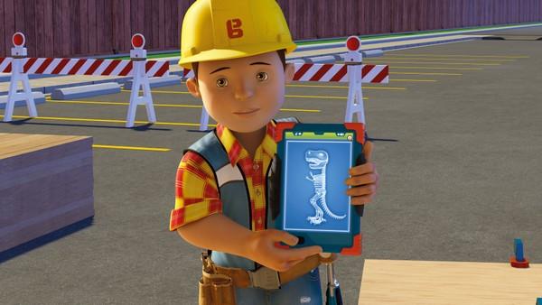Britisk animasjonsserie. Dinoskrekk. Når maskinene blir skremt når de jobber i den folketomme Dinoparken, later Skuff som han er modig, men han får problemer når han må kjøre gjennom den skumle parken helt alene.