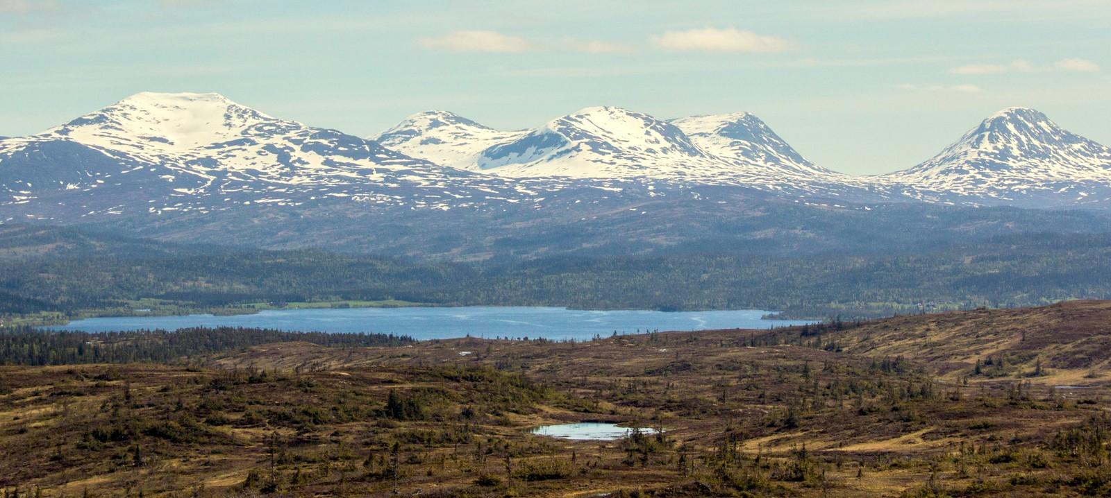 Fra Tørrgranvola i Verdal mot Veressjøen