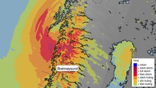 Uvær i nord - Foto: Meteorologisk institutt