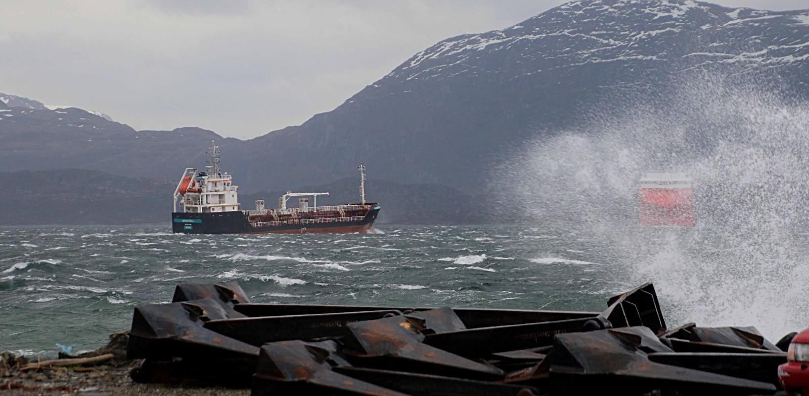 Slik opplevde Vågsøy påska. Biletet er frå Måløy.