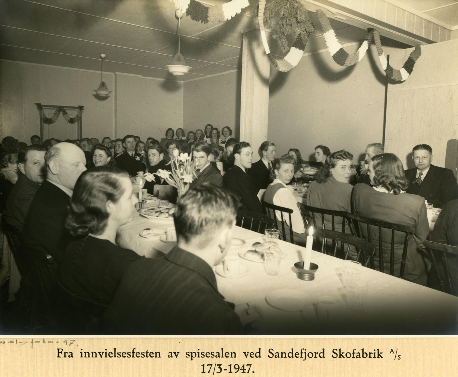 Innvielse av spisesal 17.06.1947