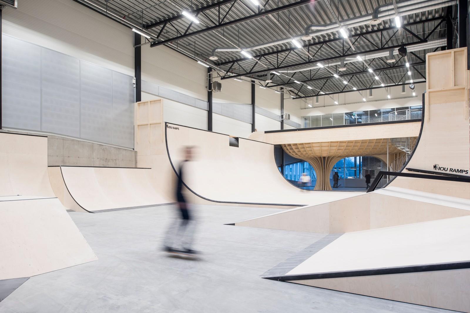 Den nye hallen er utformet i samarbeid med brukerne og spesialtilpasset skaternes behov.
