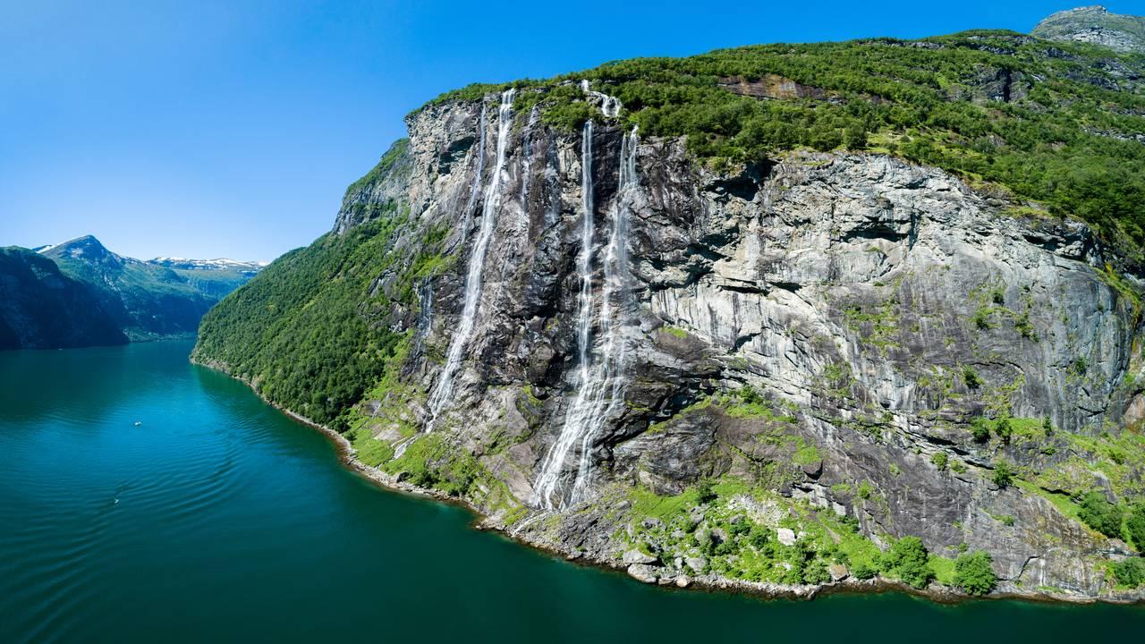 Dei sju systrene ved Geirangerfjorden