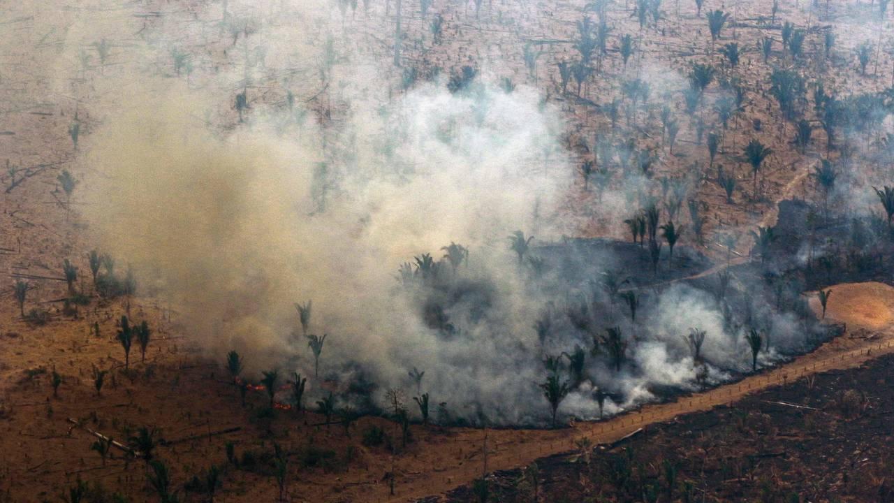 Røyk fra skogbrann i den brasilianske delen av Amazonas