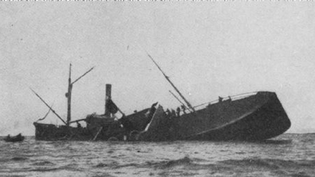 «General Suwarow» etter at den havnet på Stabben i Flakstad.