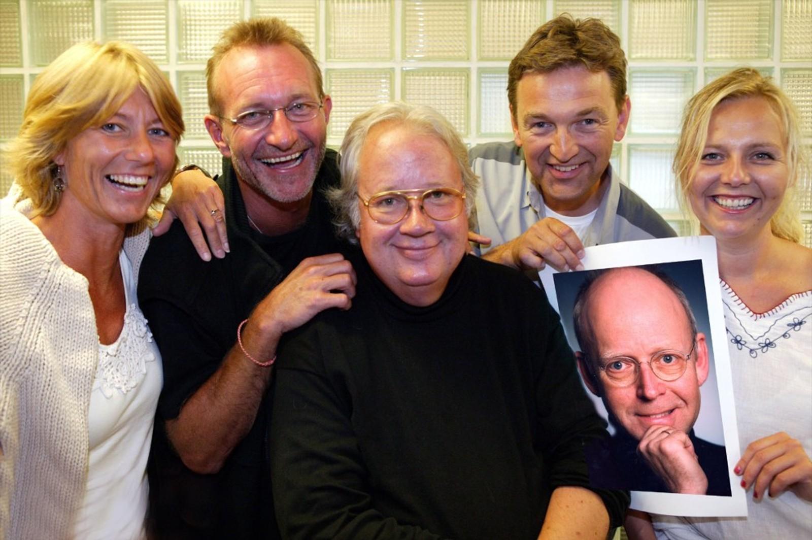 Cille Biermann, Nissa Nyberget, Knut Borge, Stig Holmer, Linn Skåber og en innfelt Trond Viggo Torgersen