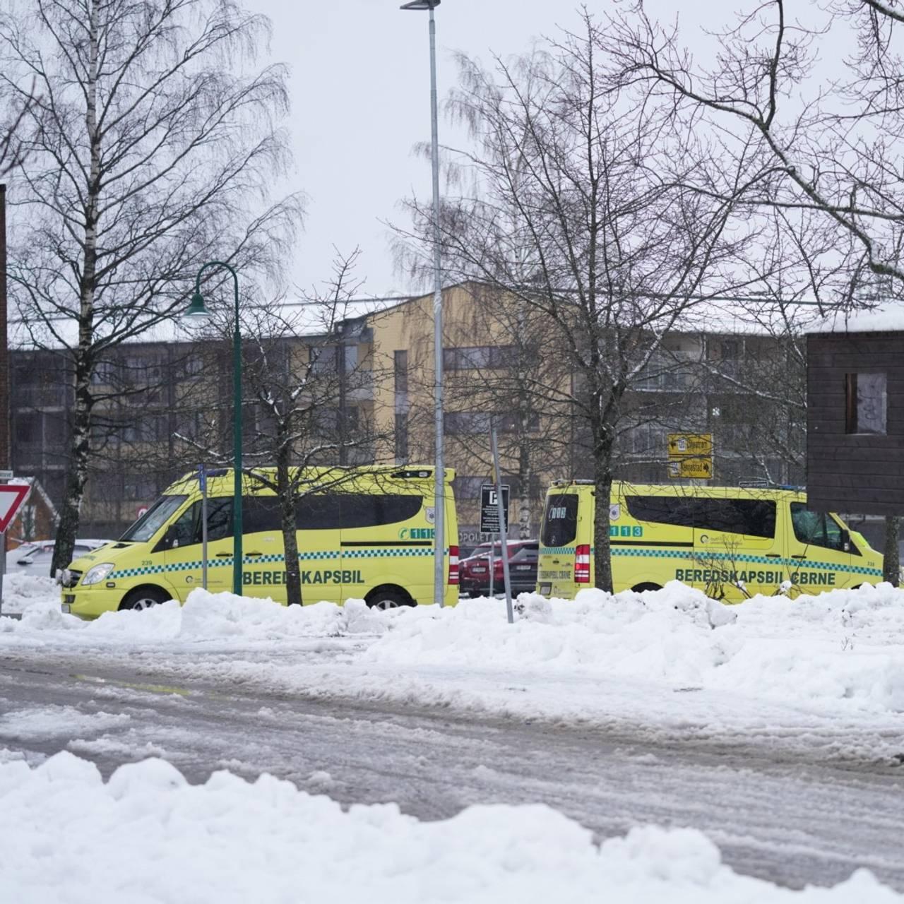 Nødetatene er på stedet i Gjerdrum.