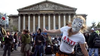 Demonstranter i Paris
