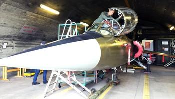 Starfighter i hangaren ved Bodø hovedflystasjon