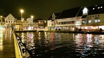 Springflo på Bryggen i Bergen