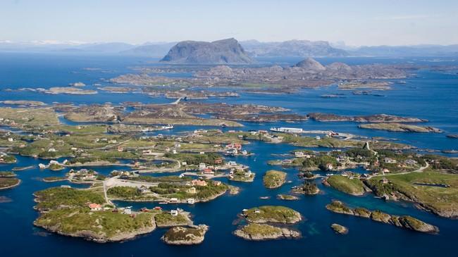 Bulandet med Værlandet og Alden i bakgrunnen. Foto: Merete Husmo Høidal, NRK
