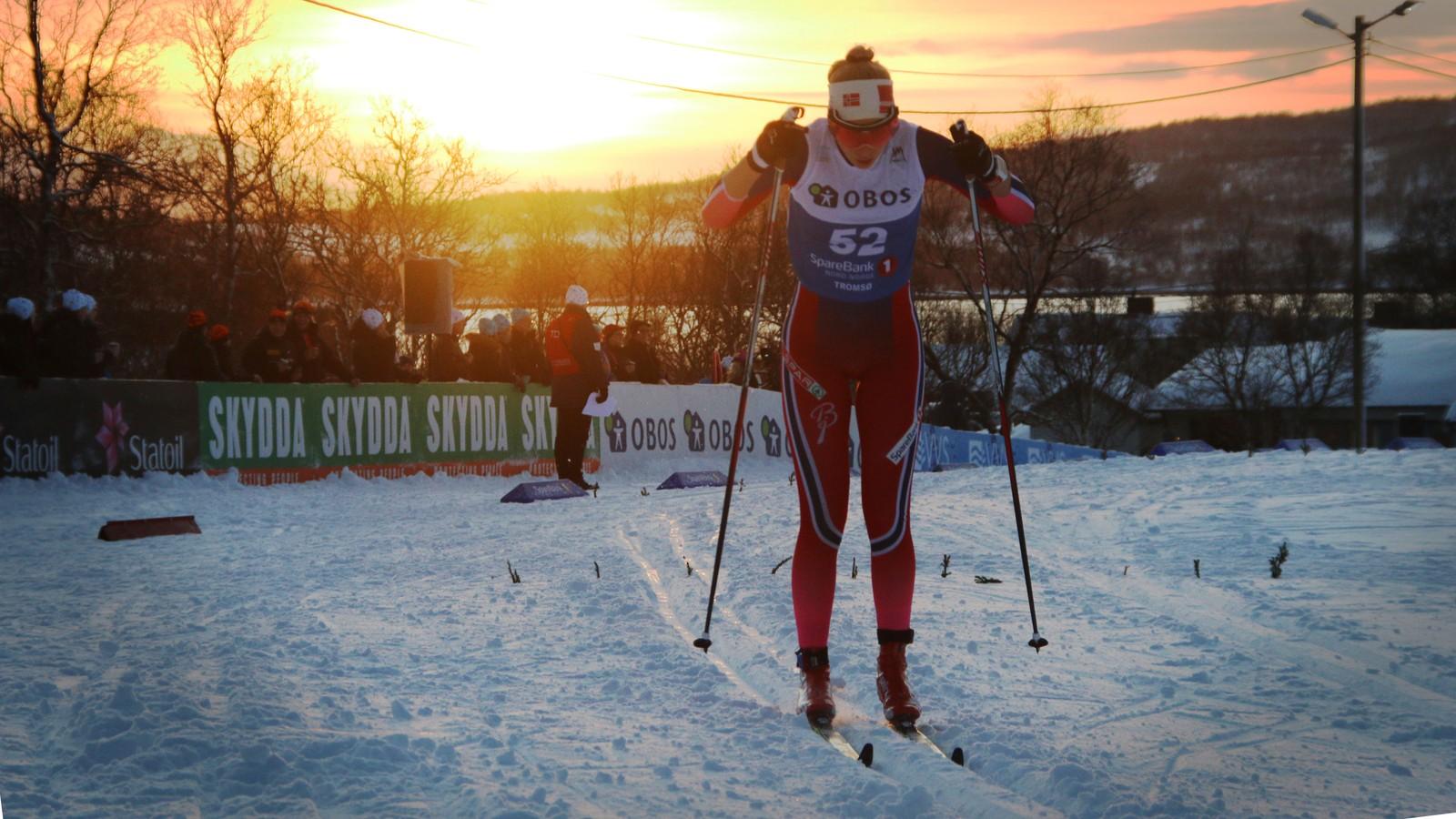 Silje Theodorsen under torsdagens 10-kilometer. Ski-NM tromsø