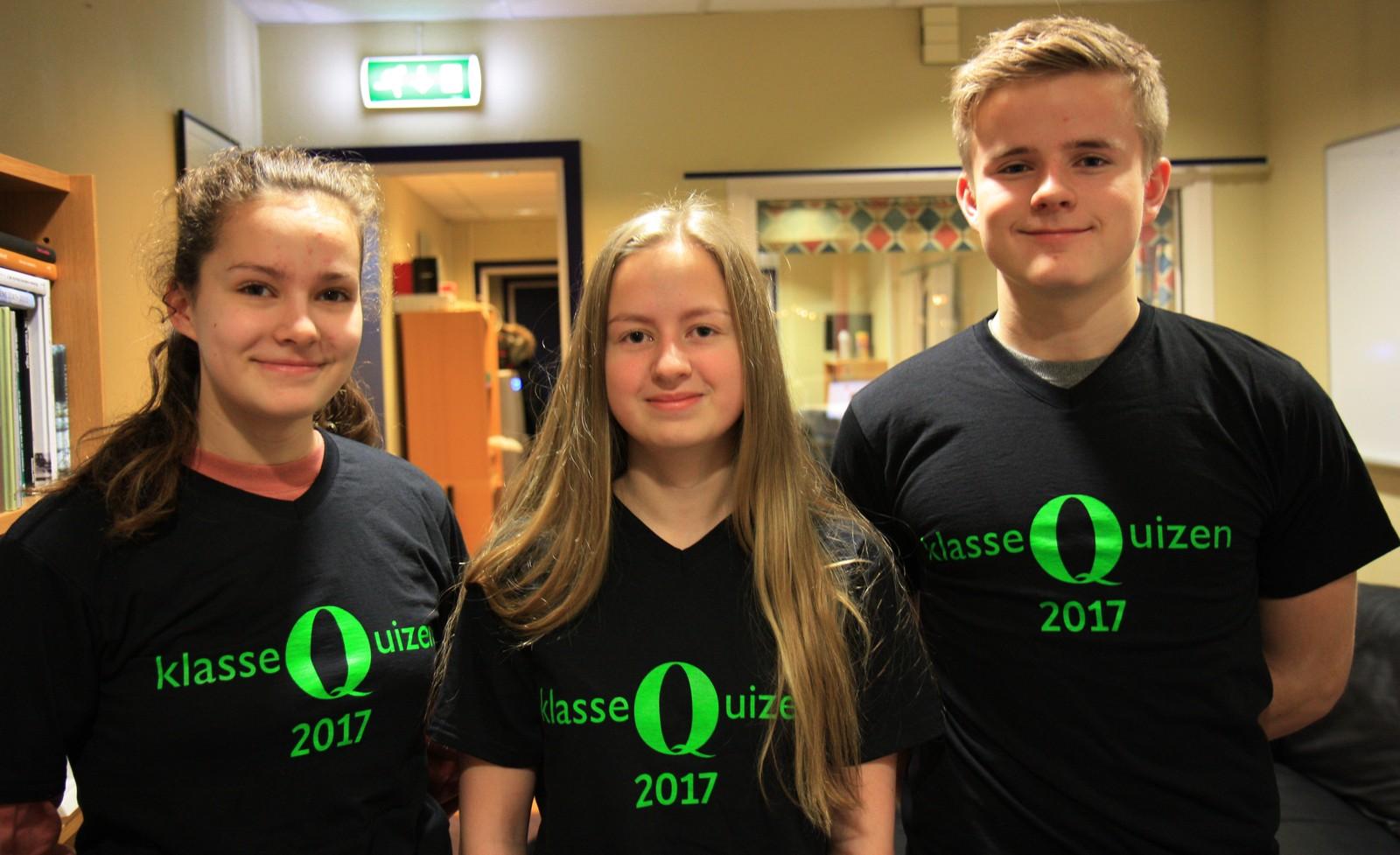 Havåsen skole fikk 9 poeng. laget besto av Ina Gräfe, Tiril Olaussen og Jørgen Bjønsaas Pedersen.