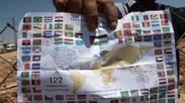 Palestina har søkt FNs sikkerhetsråd om landstatus i FN. Foreløpig har de fått oppgradert sin status fra observatørområde til observatørstat i Generalforsamlingen i FN, godkjent høsten 2012. Foto: AFP/ABBAS MOMANI