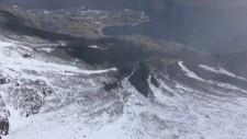 STOR SKREDFARE: Odda kommune sendte i dag et helikopter for å ta bilder av snøen på Tokheimsnuten, FOTO: Odda kommune