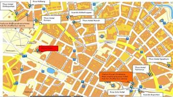 Hotel map Oslo 2011