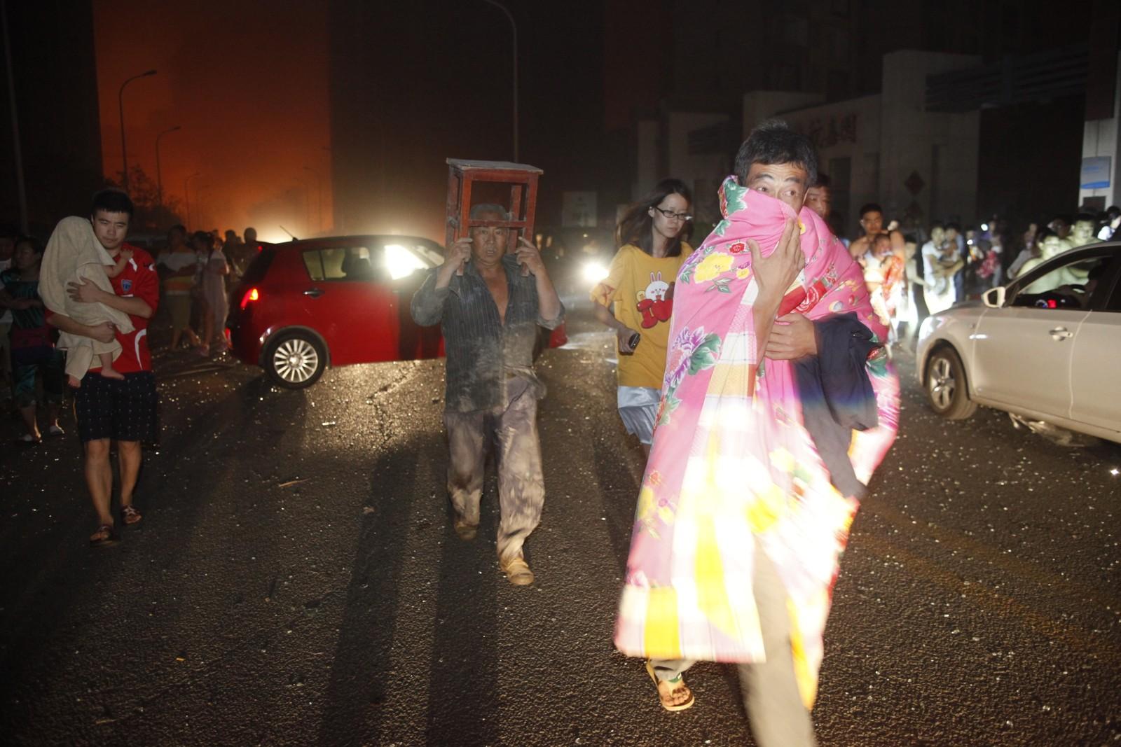 EKSPLOSJON: Flere hundre er skadet etter den enorme eksplosjonen.