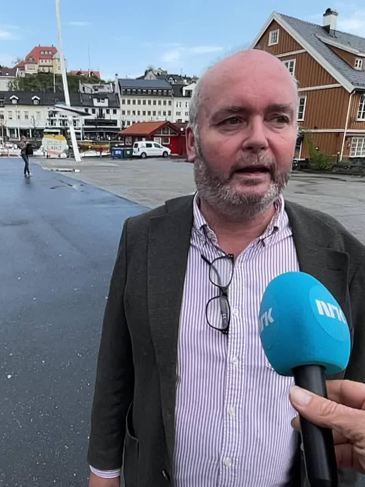Willy Kristiansen, driver butikk i Arendal