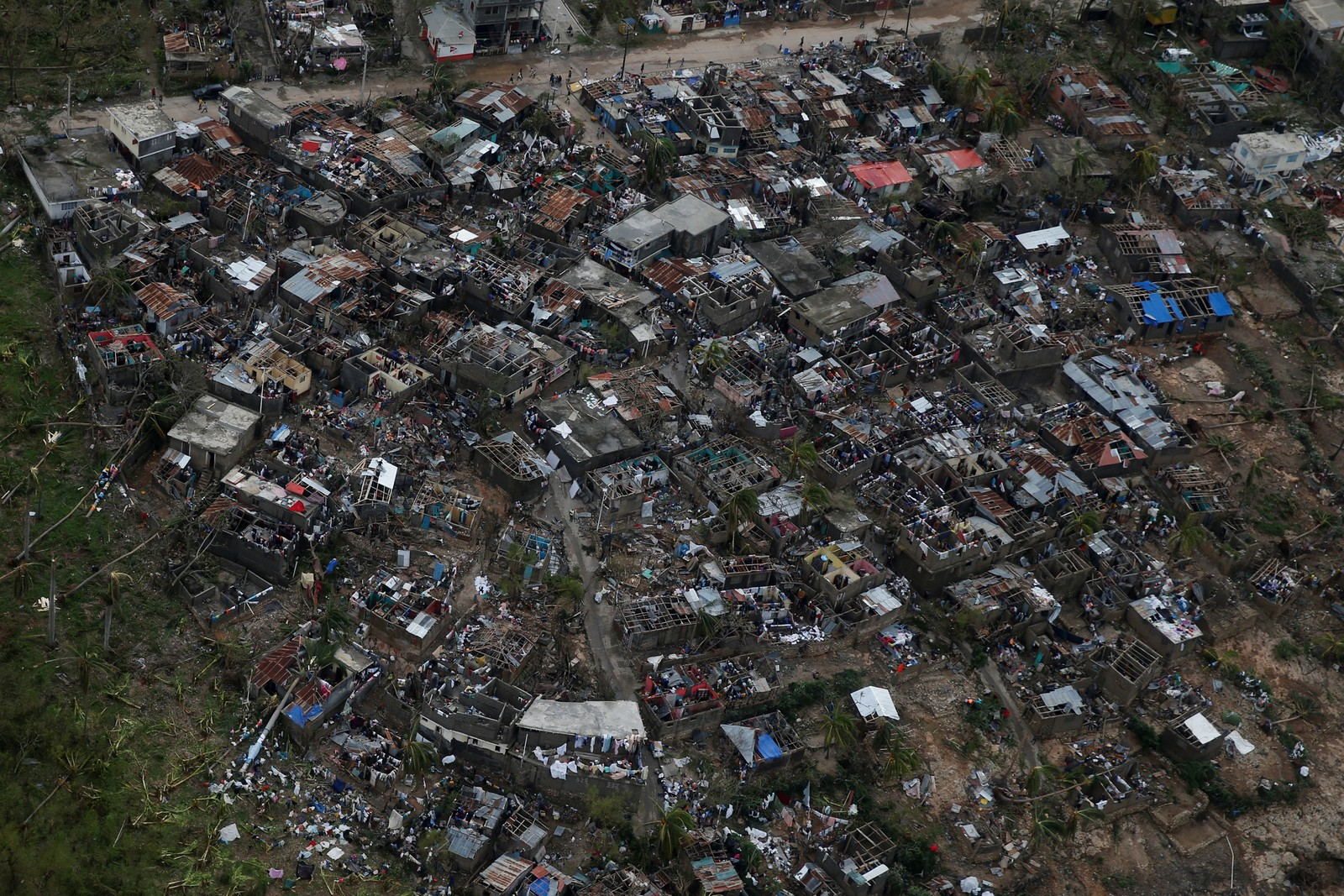 Byen Jeremie ble mer eller mindre total ødelagt av orkanen.