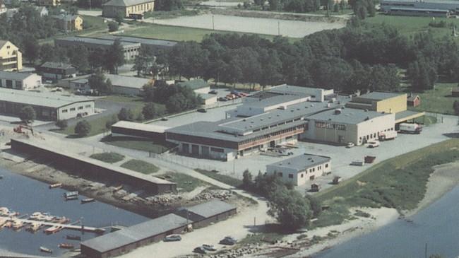 Nordfjord Slakteri på 1960-talet. Foto Vestlandske Salslag.