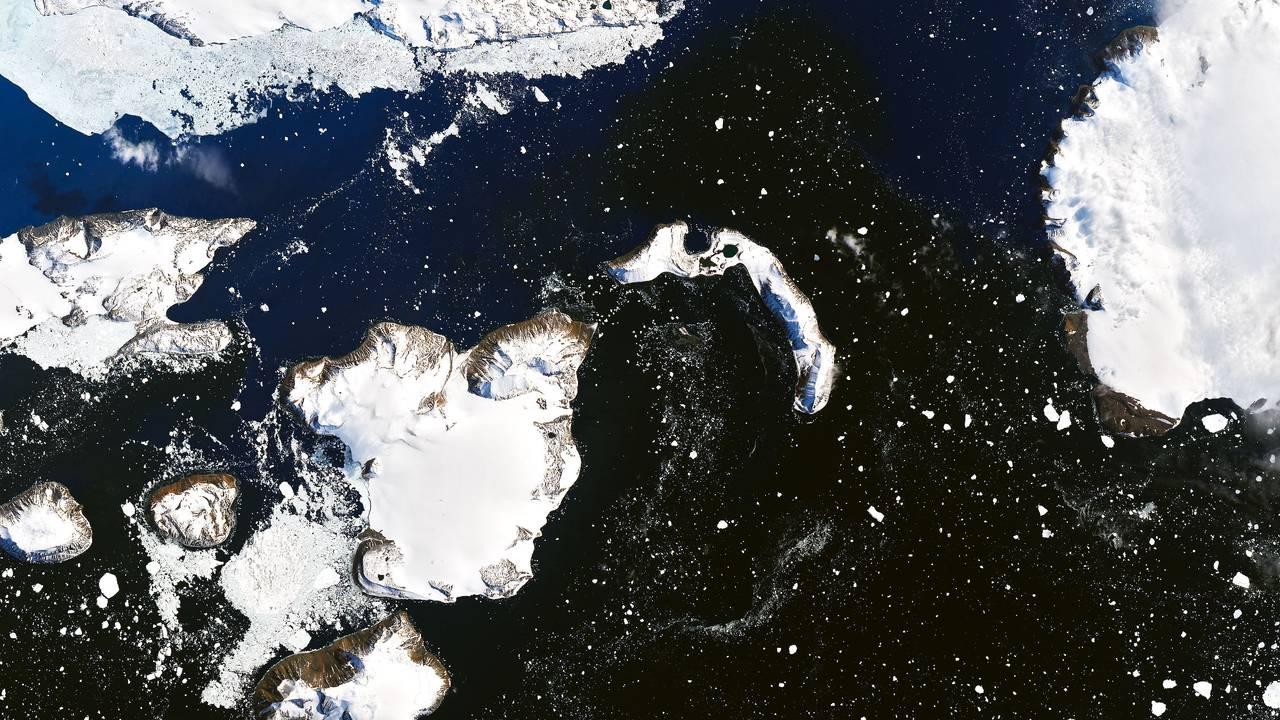 Snødekke på Eagle Island 4. februar 2020.