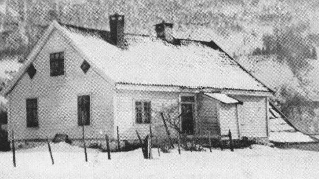 """Njøsahuset, der Sogndal Sparebank hadde kontor på 1860-talet. Foto frå boka """"Sogndal Sparebank 1841-1966""""."""