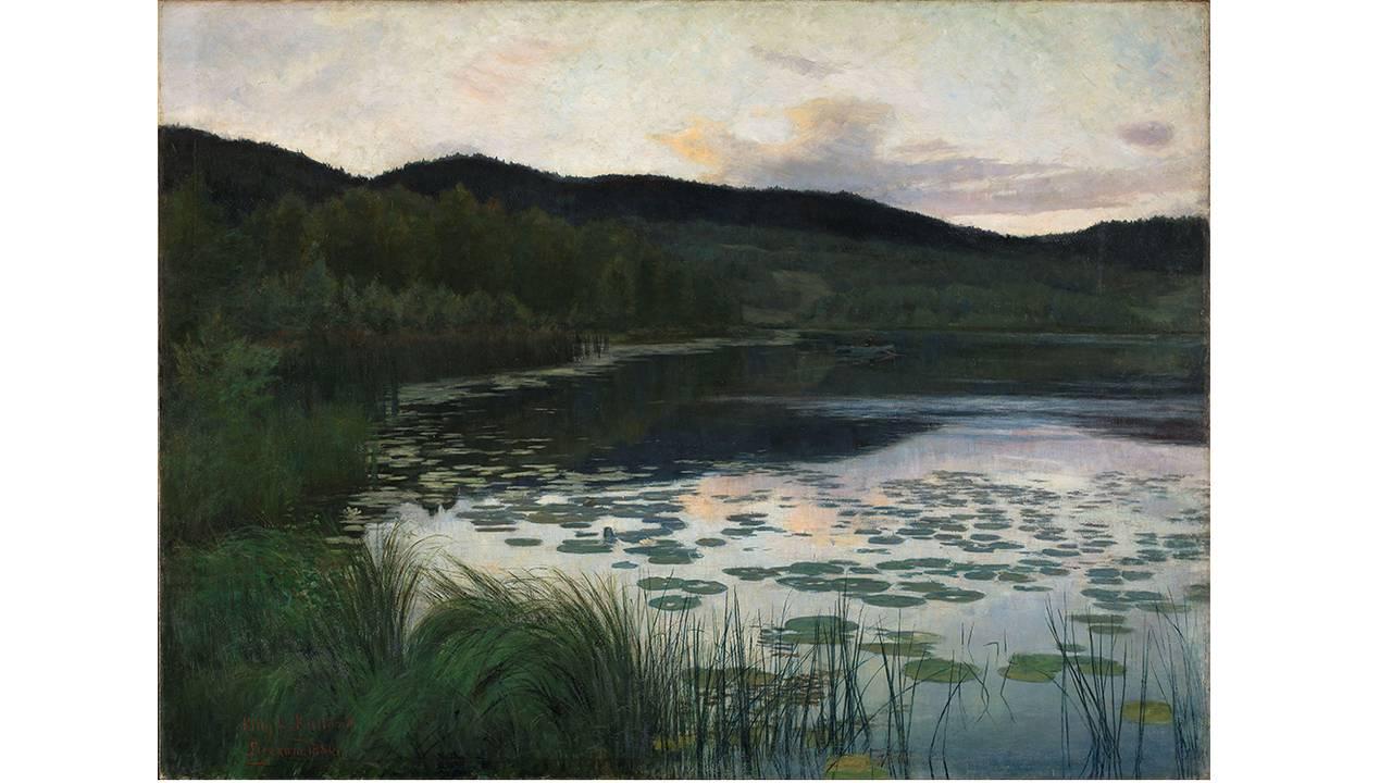 Sommernatt» fra 1886 av Kitty Kielland