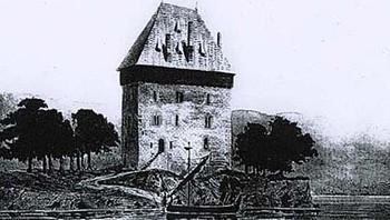 Slik kan Mjøskastellet ha sett ut da det ble bygget på 1200-tallet.